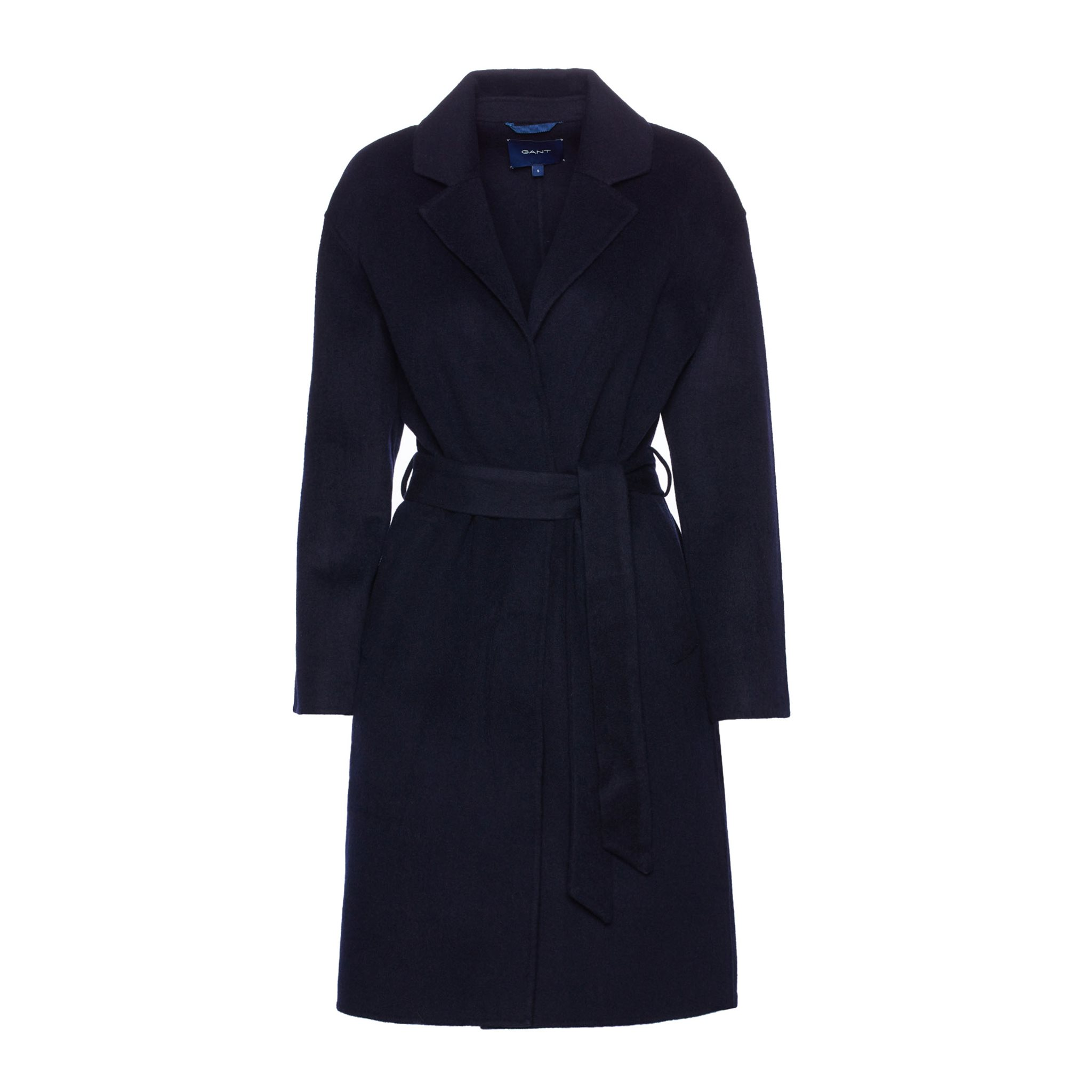 WOOL BLEND BELTED COAT GANT WOMAN