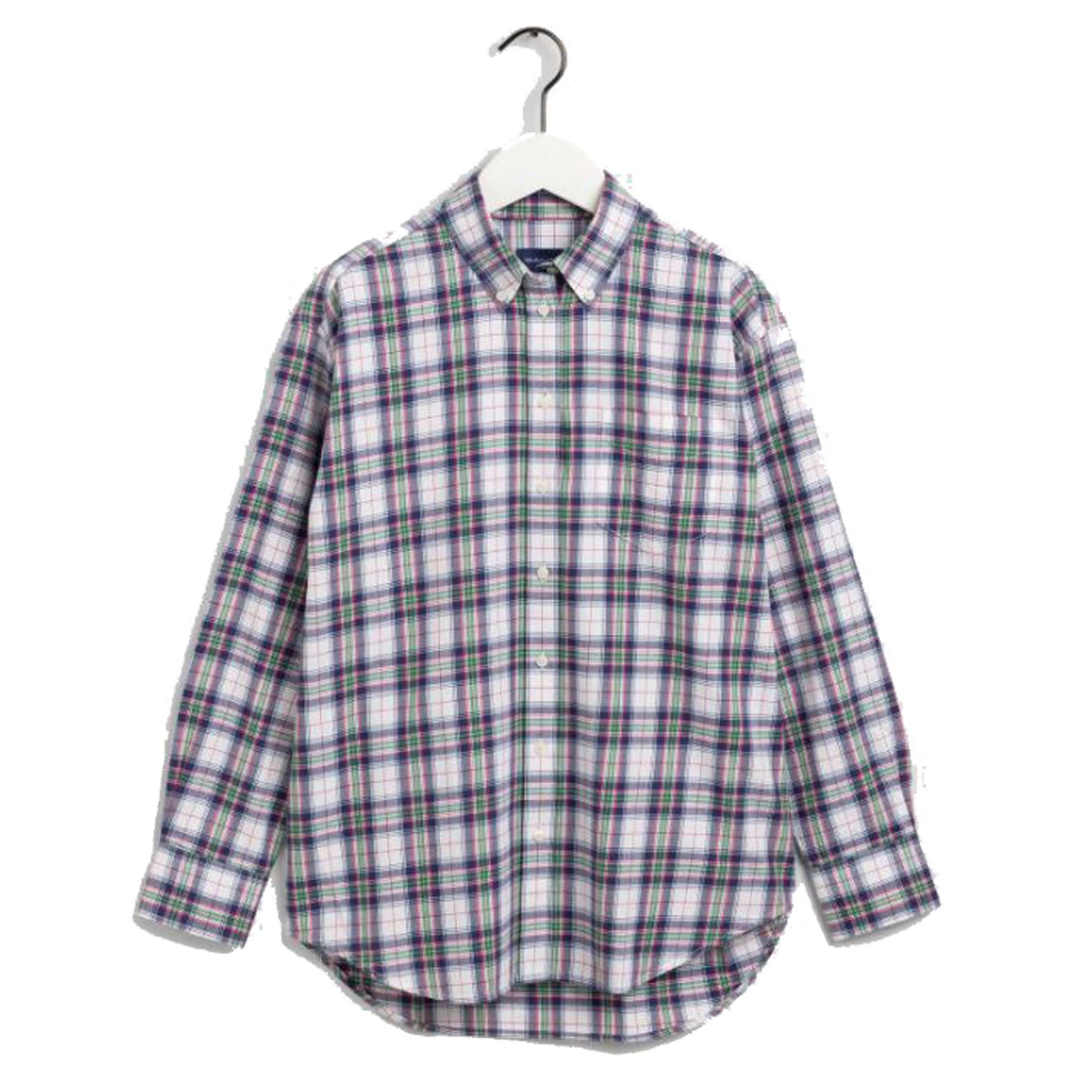 FLANNEL CHECK RELAXED SHIRT GANT WOMAN