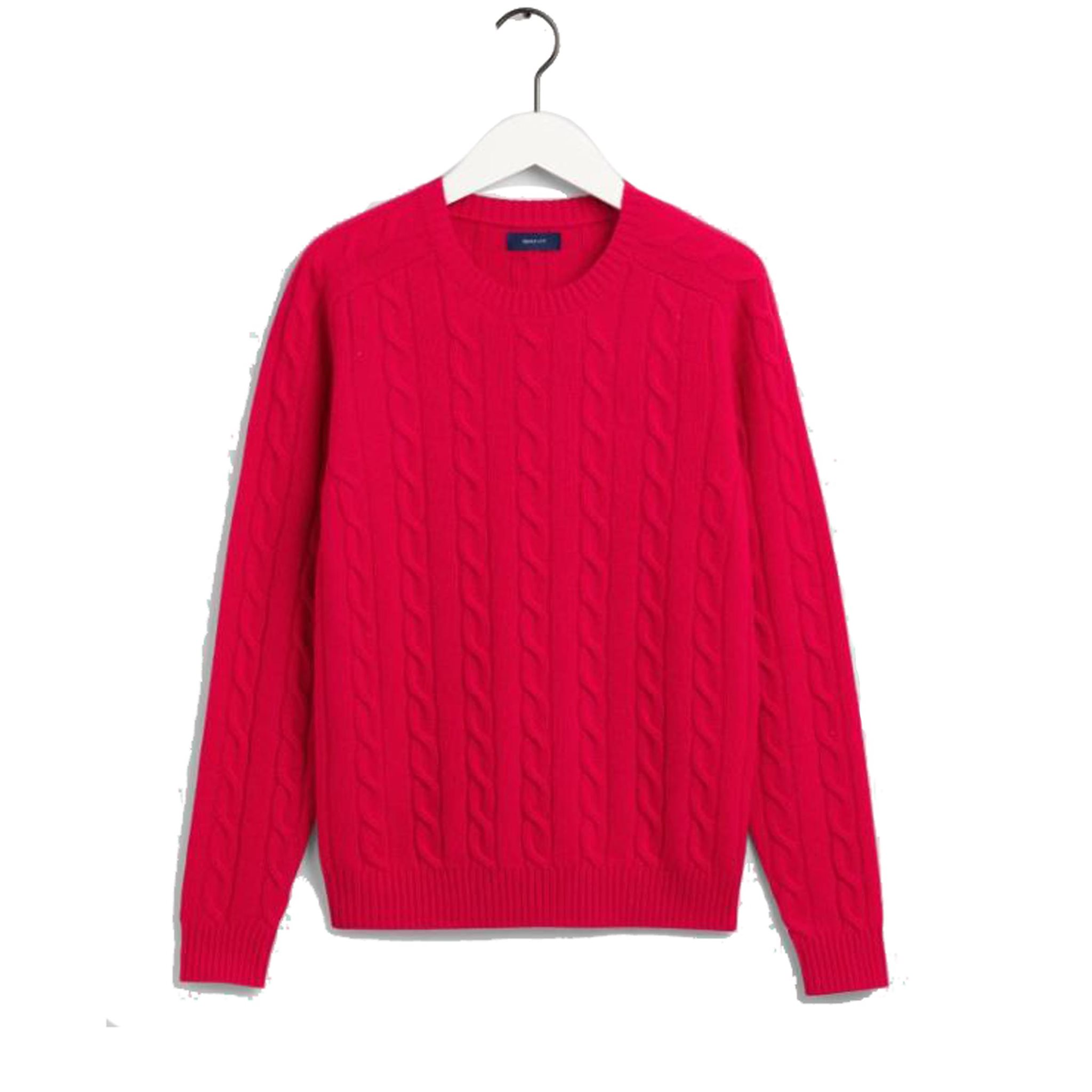 LAMBSWOOL CABLE CREW GANT WOMAN