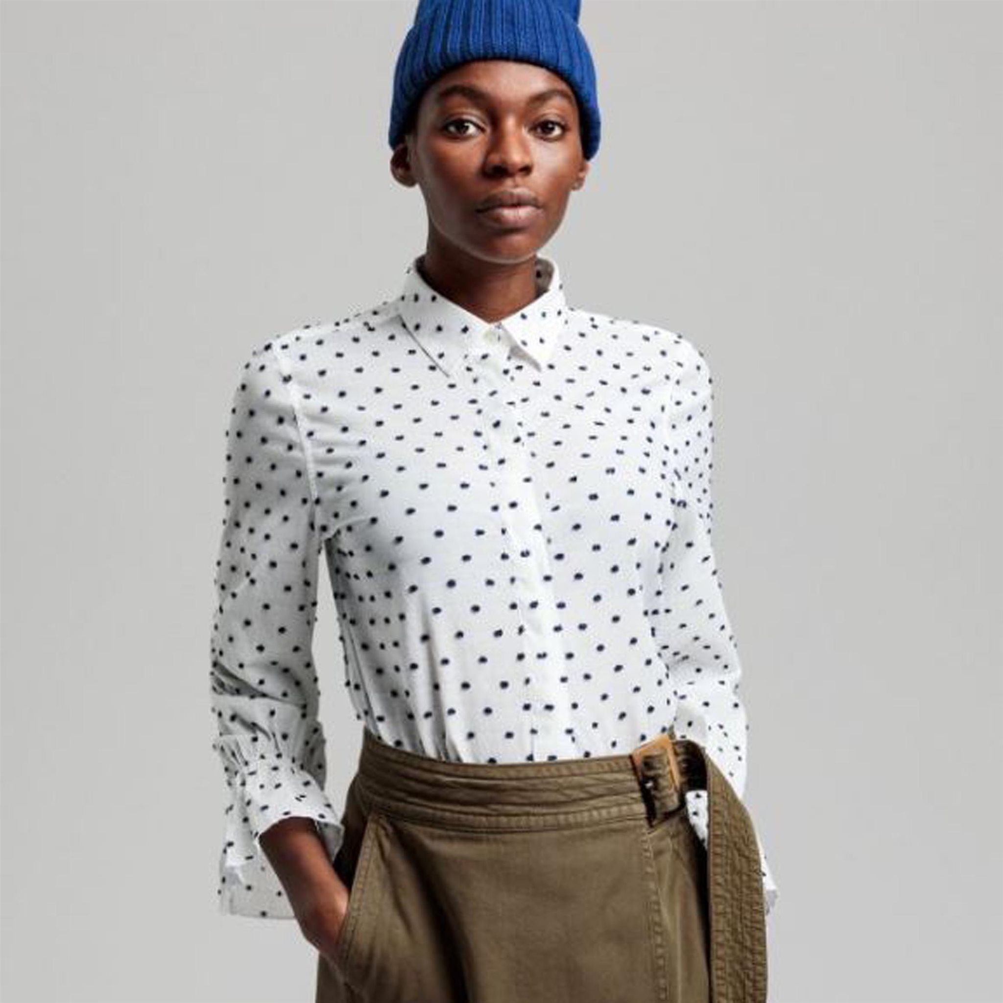 SMOCK DOT DOBBY SHIRT GANT WOMAN