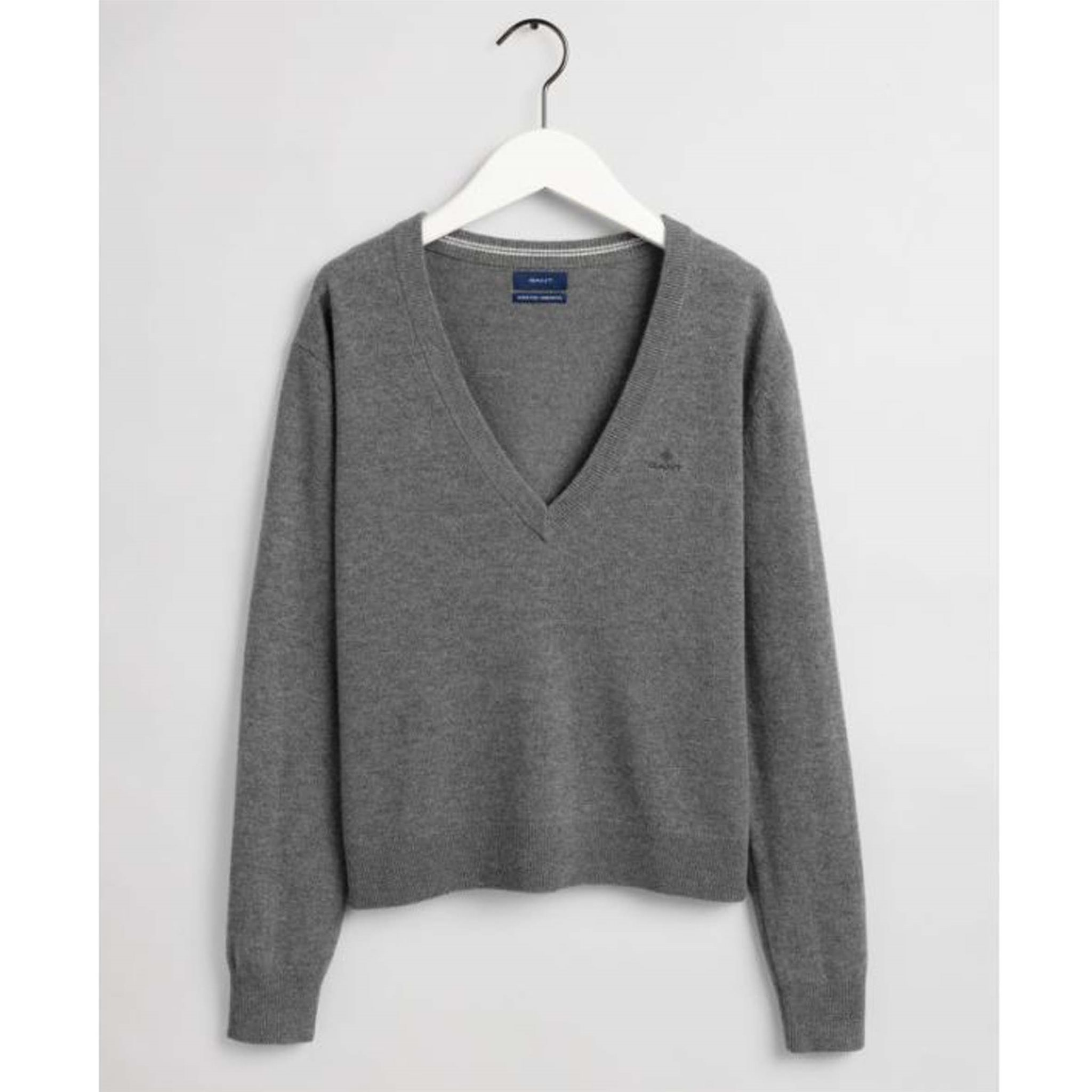 SUPERFINE LAMBSWOOL V-NECK GANT WOMAN