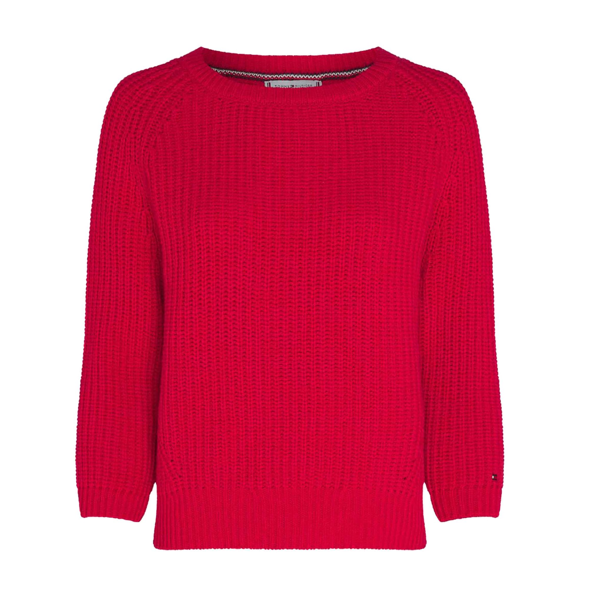 RIB OPEN-NK SWEATER LS TOMMY HILFIGER