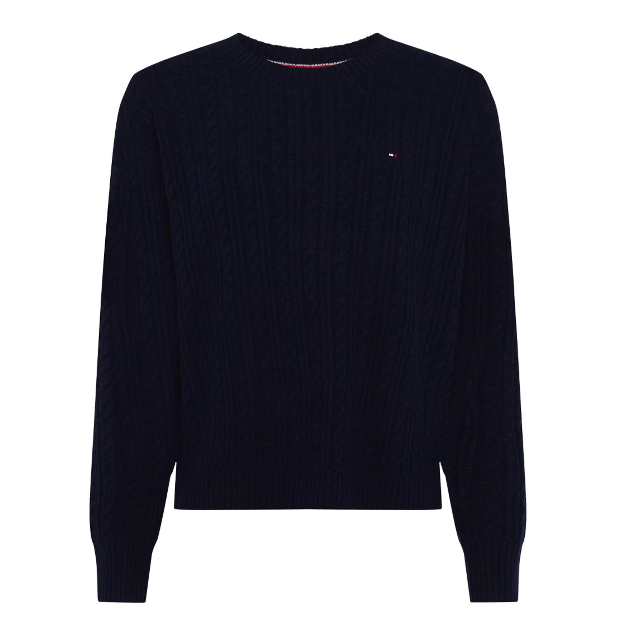 SOFTWOOL CABLE C-NK SWEATER TOMMY HILFIGER