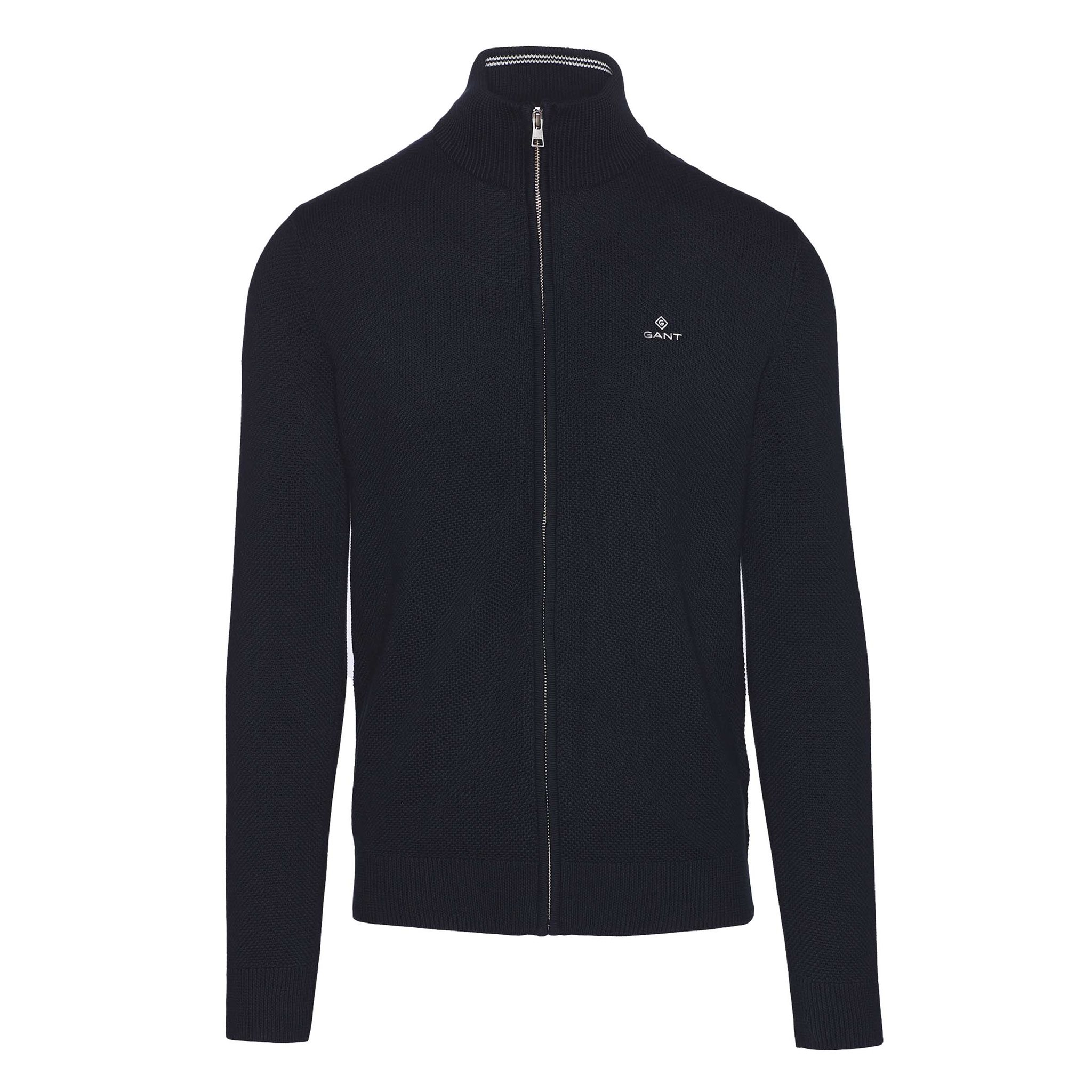 COTTON PIQUE ZIP CARDIGAN GANT MAN