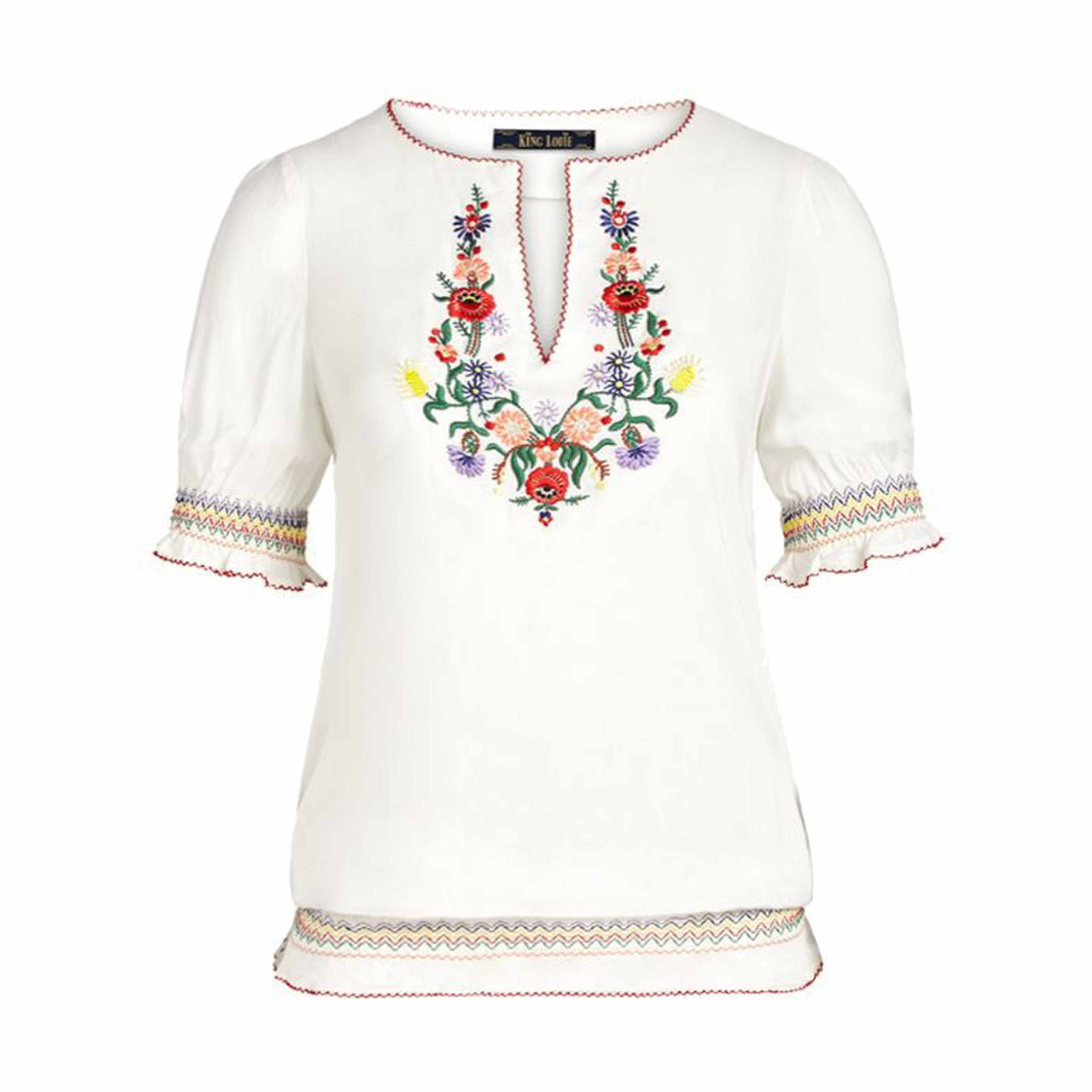 Lucy Embroidery Top Coyote KING LOUIE