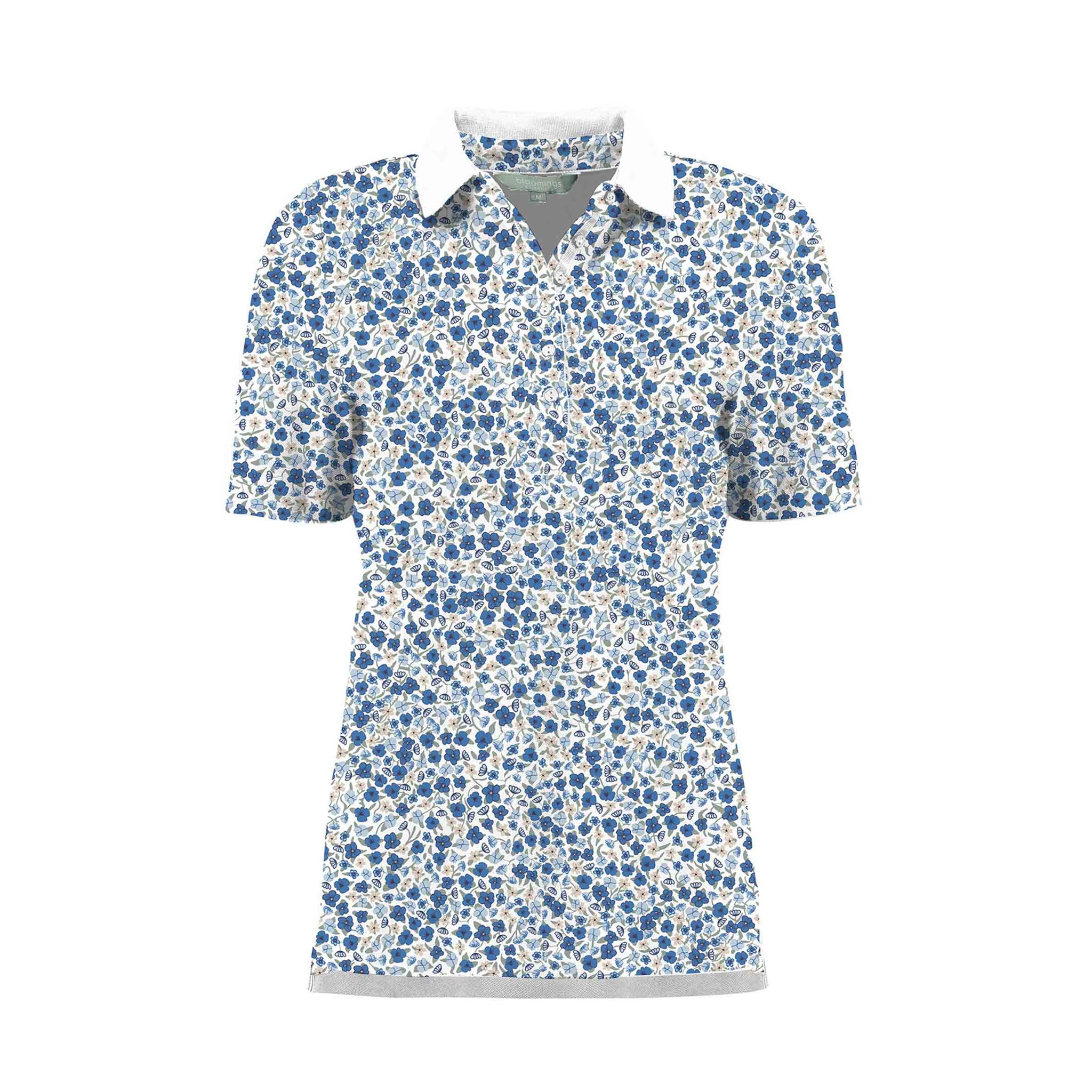 Polo shirt Millefleur print BLOOMINGS