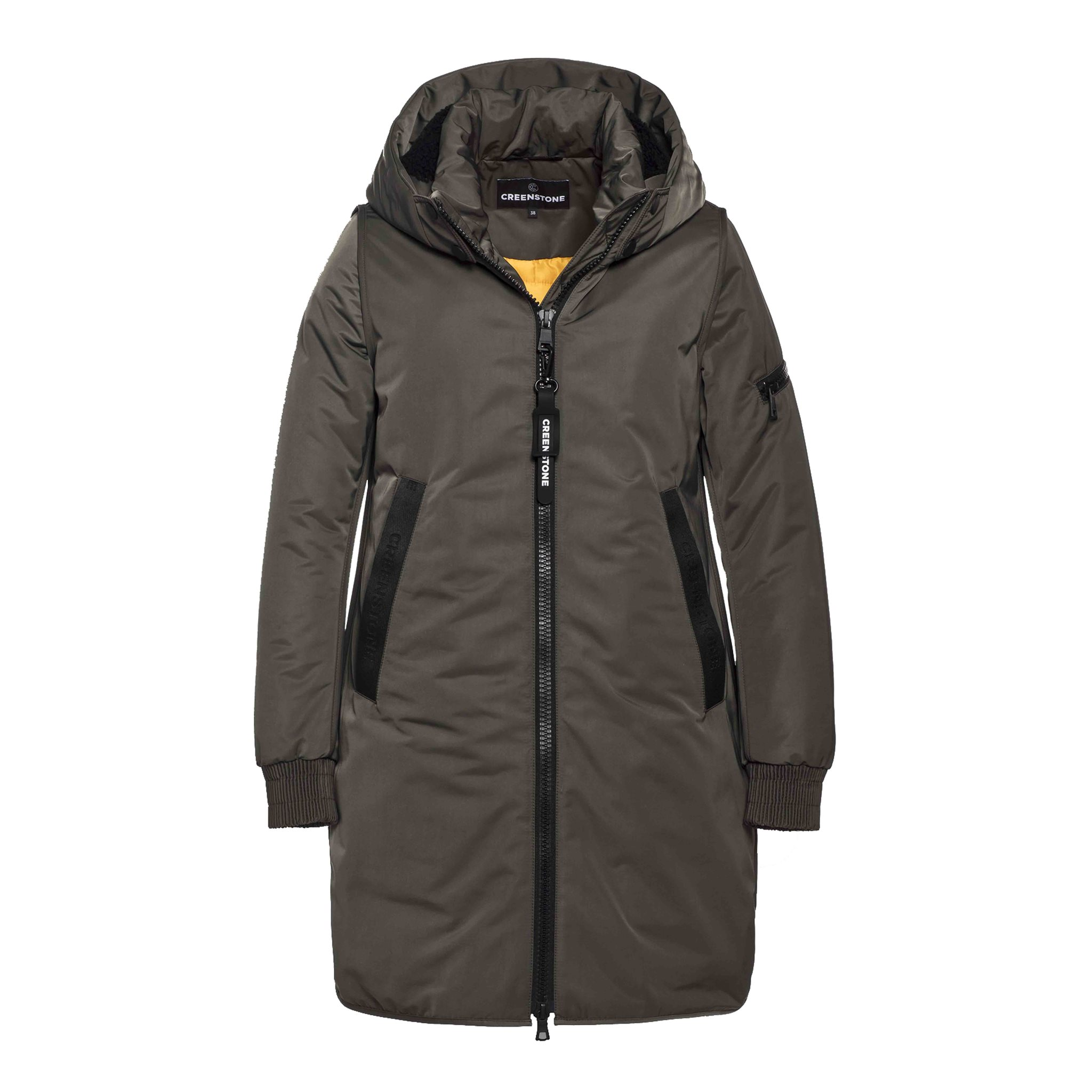 Relaxed coat CREENSTONE