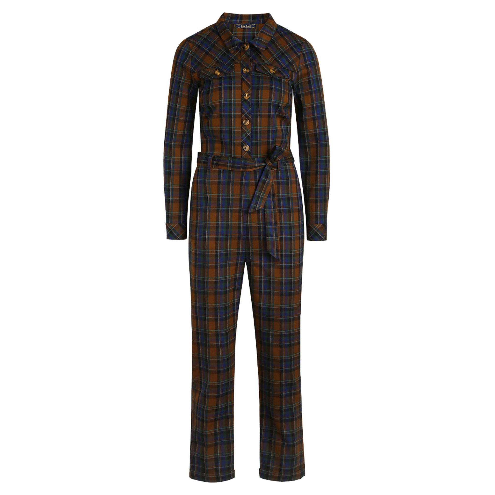 Olive Jumpsuit Zappa Check KING LOUIE